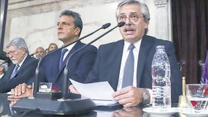Las críticas al Poder Judicial ocuparon los tramos más álgidos del discurso presidencial.