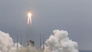 Gran parte del cohete chino se desintegró sobre el océano Índico.