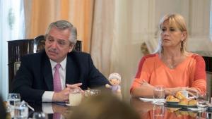 El presidente Alberto Fernández y la ministra de Justicia, Marcela Losardo.