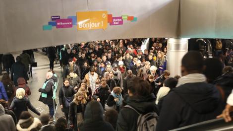 La huelga en Francia paralizó el transporte público