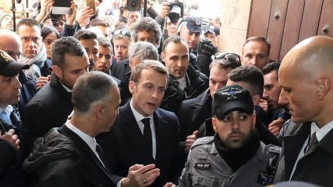 Macron se enojó con la seguridad israelí