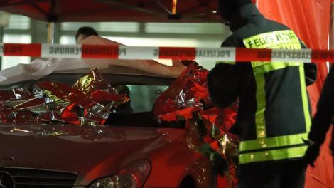 El auto del atacante de Hanau.