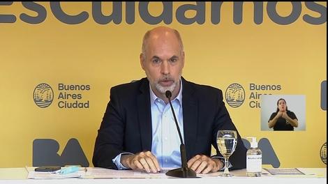 Horacio Rodríguez Larreta, jefe de gobierno de la Ciudad.