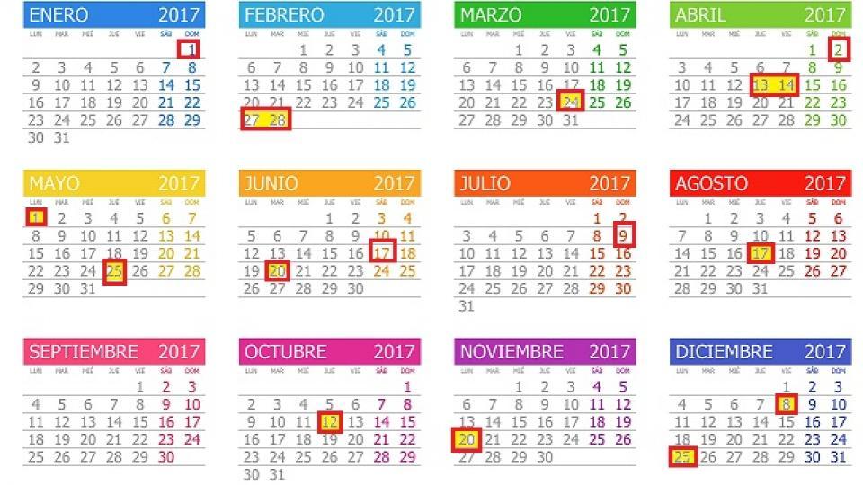 Calendario 2017 Argentina.Sin Feriados Puente En 2017 Menos Fines De Semana