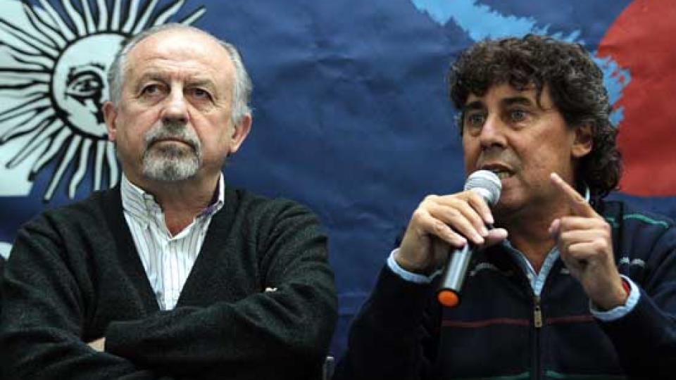 Hugo Yasky y Pablo Micheli.