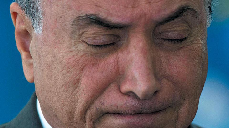Michel Temer cuenta con solamente cinco por ciento de aprobación popular.