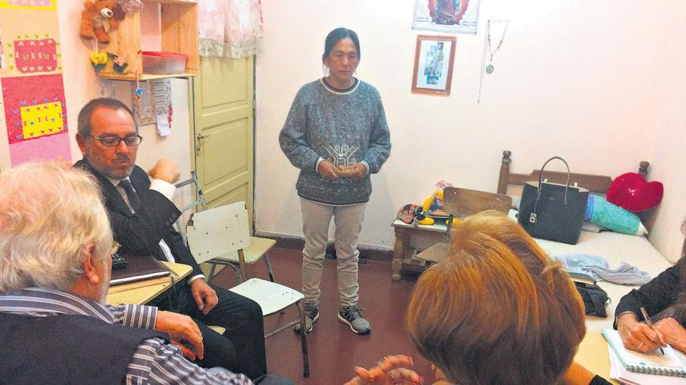 Milagro Sala recibió a los miembros de la CIDH en el penal de Alto Comedero.