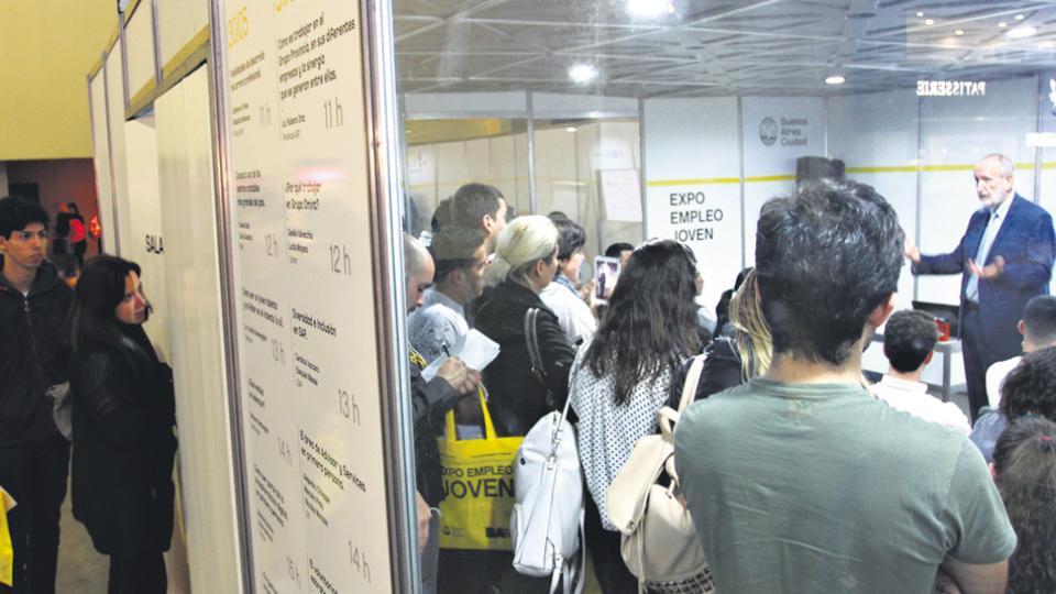 La demanda de puestos de trabajo quedó evidenciada la semana pasada en la Expo-Empleo Joven.