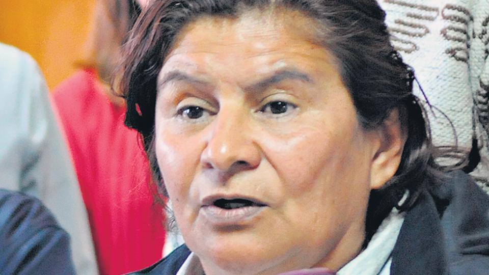 Nélida Rojas, responsable de la Tupac Amaru en Mendoza.