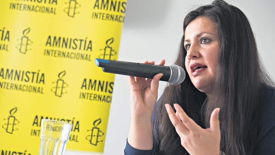 """""""Lamentamos no conocer un plan de derechos humanos del nuevo gobierno"""", dijo Erika Guevara Rojas, de AI."""