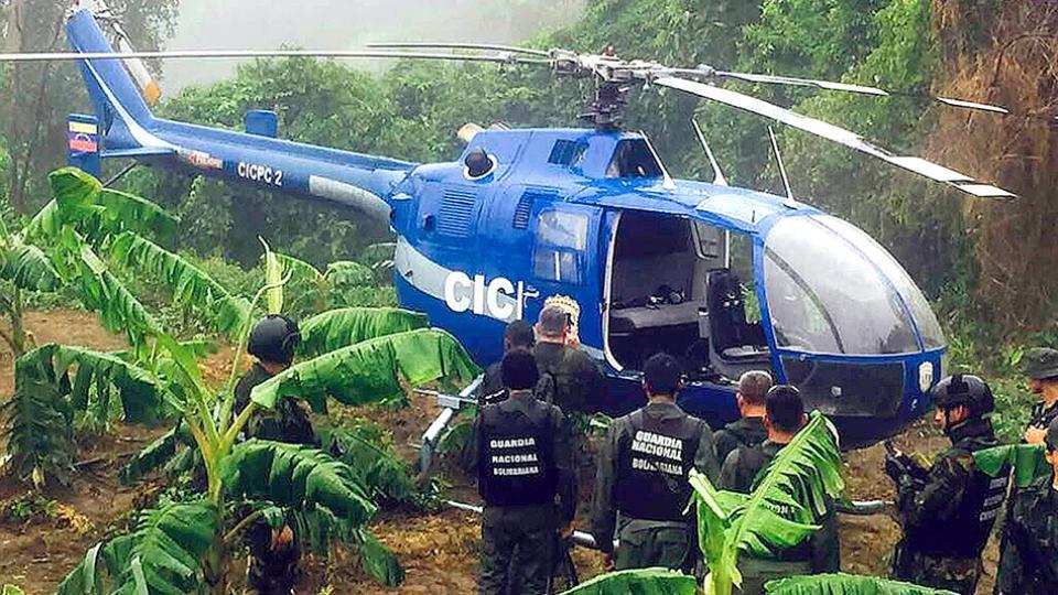El helicóptero fue encontrado por autoridades venezolanas en el estado de Vargas, cerca de Caracas.
