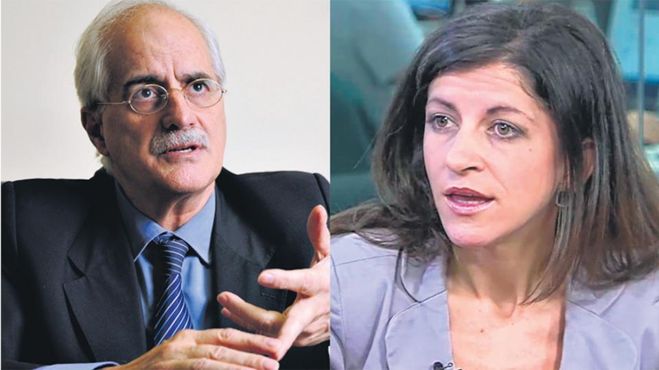 El ex canciller Jorge Taiana y la economista Fernanda Vallejos.