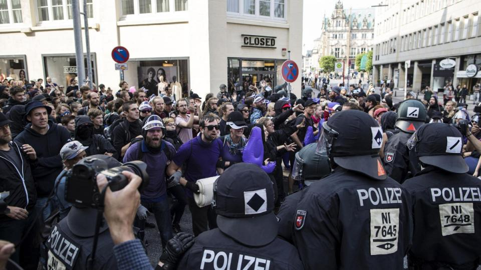 Hoy se estima que habrá unas 30 manifestaciones en Hamburgo.