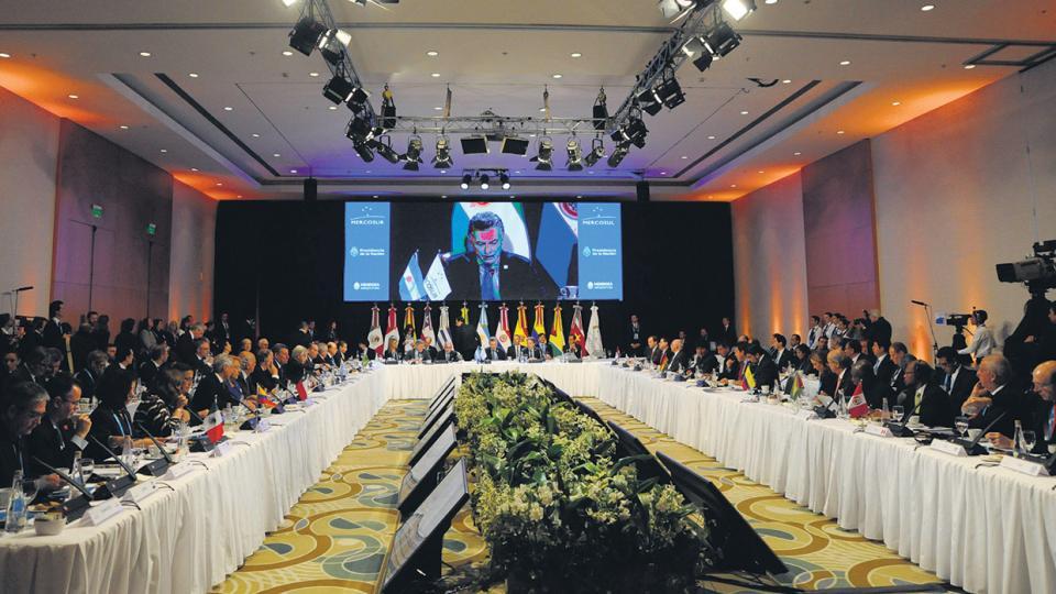 El presidente Mauricio Macri, anfitrión de la cumbre del Mercosur en Mendoza.