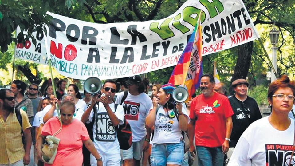 La marcha en Córdoba fue convocada por la Coordinadora en Defensa del Bosque Nativo (Codebona).