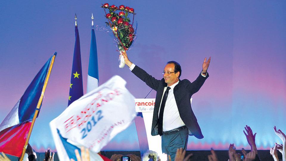 La victoria de Hollande en el 2012 fue el primer                  triunfo socialista en 24 años.