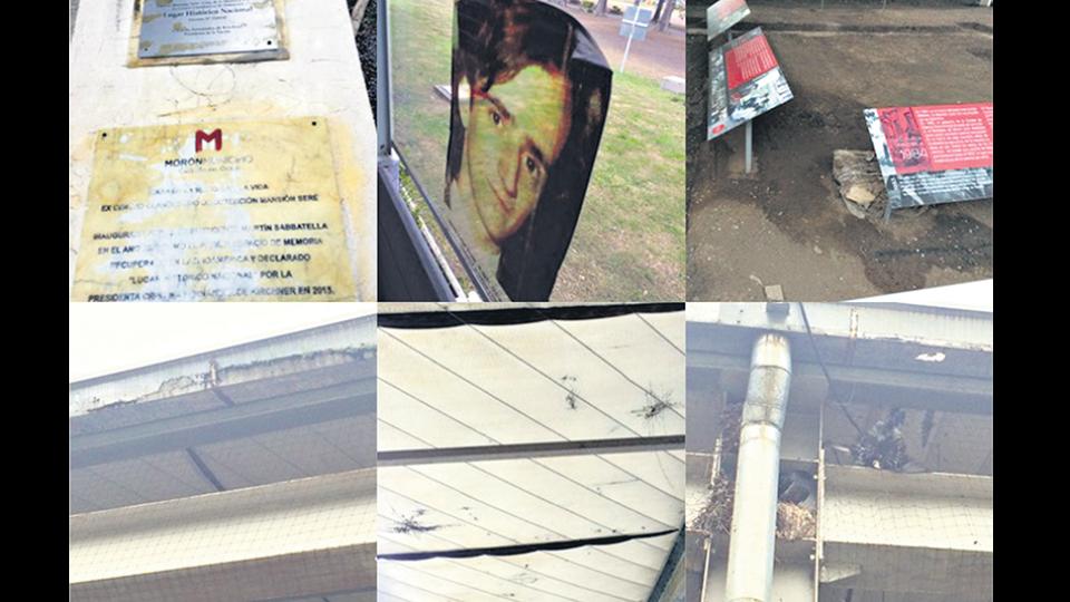Imágenes del progresivo deterioro que viene sufriendo el edificio de Mansión Seré en la gestión del macrista Tagliaferro en Morón.