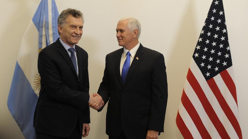 Mauricio Macri recibió a Mike Pence en Olivos.