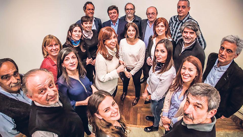 Cristina Kirchner se reunió ayer en el Instituto Patria con los candidatos a diputados de Unidad Ciudadana.