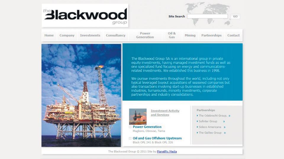 La presentación de Blackwood, el fondo de inversiones de Odebrecht y Macrì.