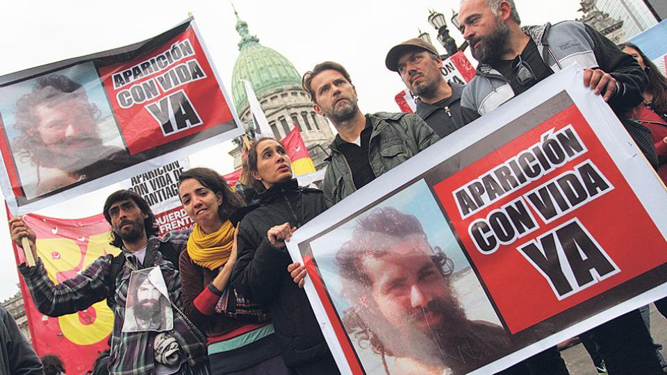 Santiago Maldonado desapareció el 1º de agosto, luego de una represión de la Gendarmería en la comunidad mapuche de Cushamen.