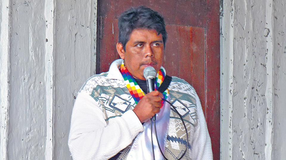 Agustín Santillán inició una huelga de hambre hace 15 días.