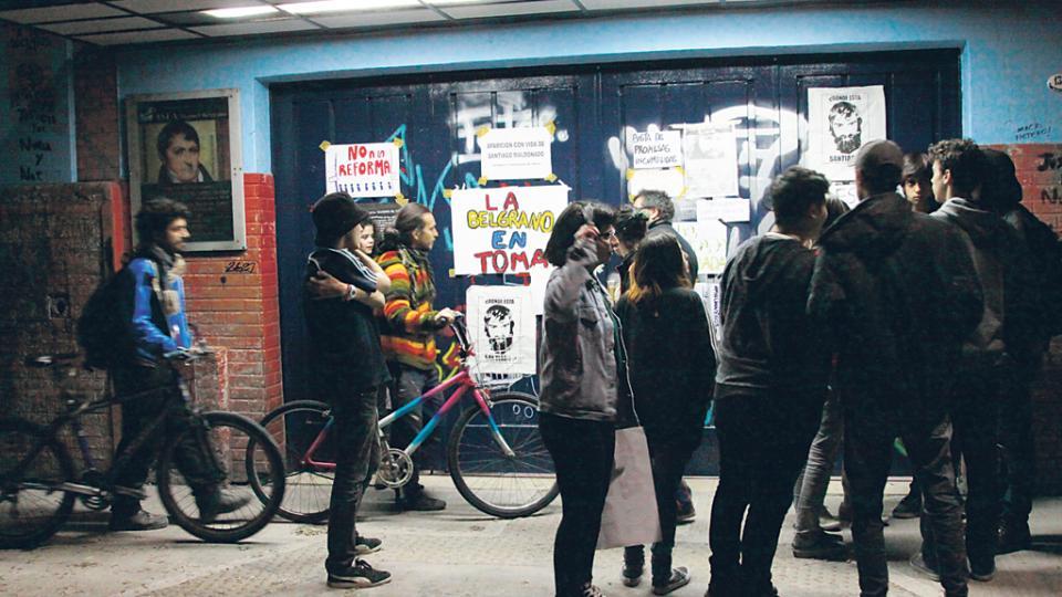 La Escuela de Bellas Artes Manuel Belgrano, uno de los establecimientos porteños tomados contra la reforma.