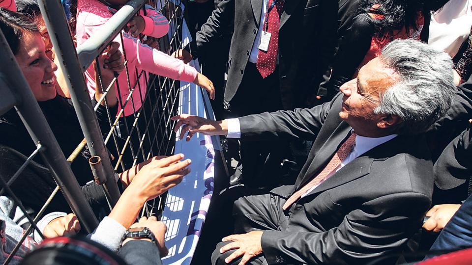 Lenín Moreno goza de un amplio respaldo popular, alrededor de un 80 por ciento según todas las encuestas.