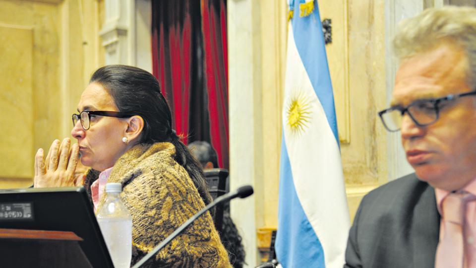 Gabriela Michetti presidió la sesión de ayer en el Senado.
