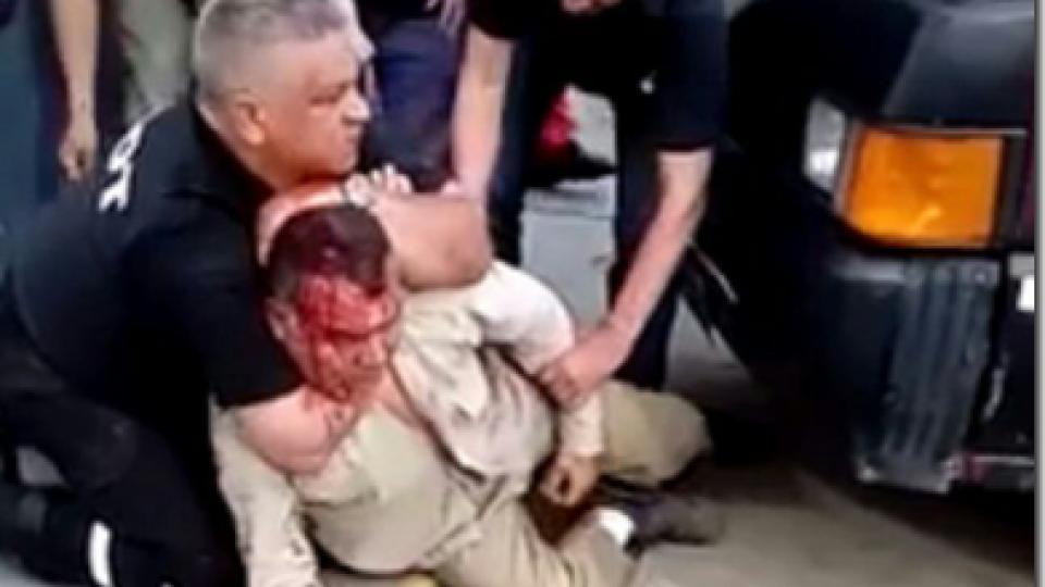 José Ojeda fue golpeado violentamente por los policías Gustavo Castillo y Héctor Sosa.