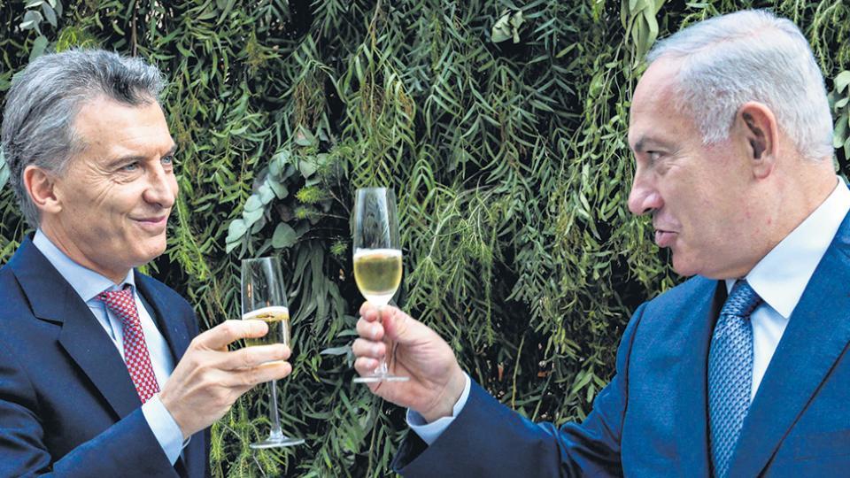 El presidente Mauricio Macri y el primer ministro de Israel, Benjamin Netanyahu, celebraron sus coincidencias.
