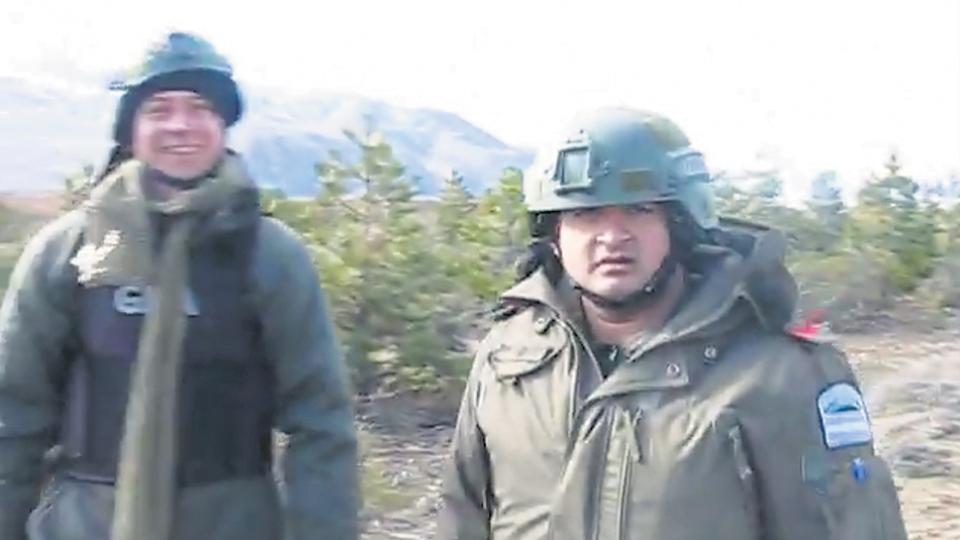 Una imagen de gendarmes tras la represión a los mapuches de uno de los dos videos encontrados en sus teléfonos.