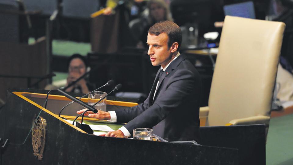 En su debut en la ONU, Macron se presentó como ferviente defensor del multilateralismo.