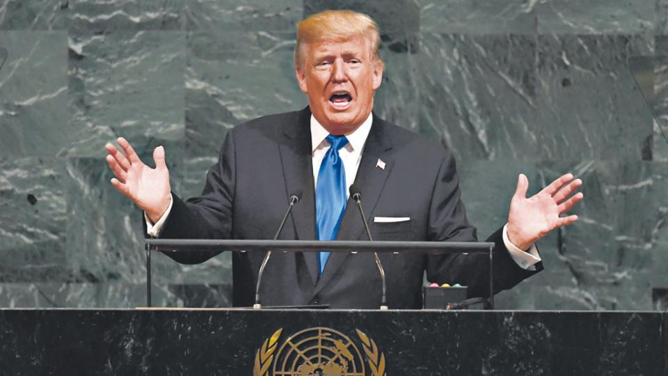 Trump dijo ante la Asamblea de la ONU que Estados Unidos necesitaba cuidar primero a sus propios ciudadanos.