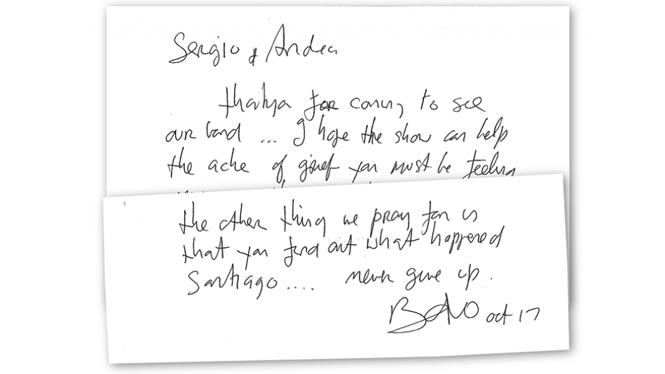 Antes de la carta, Bono ya le había preguntado al Presidente por Santiago Maldonado.