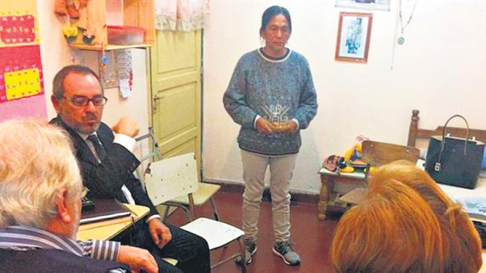 Miembros de la CIDH visitaron a Sala en la cárcel en junio pasado.