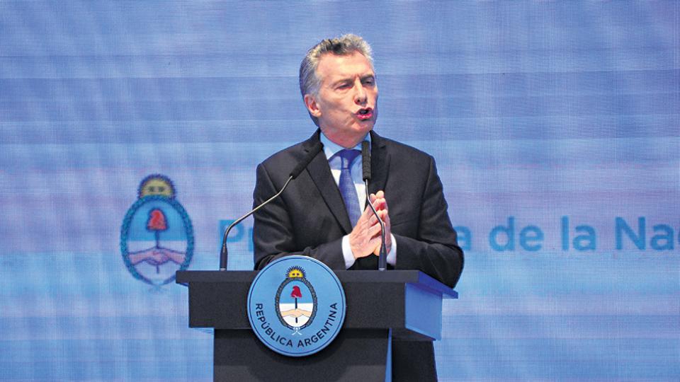 Mauricio Macri presentó su plan ante una platea de invitados especiales en la cúpula del CCK.
