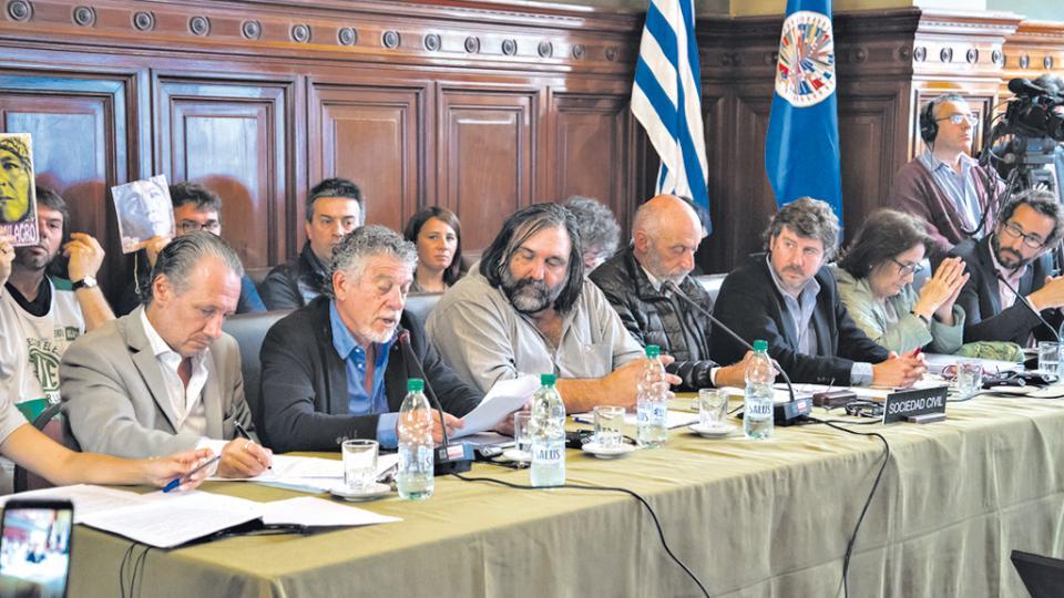 Hubo una amplia representación sindical en la audiencia que se realizó ayer en Montevideo.