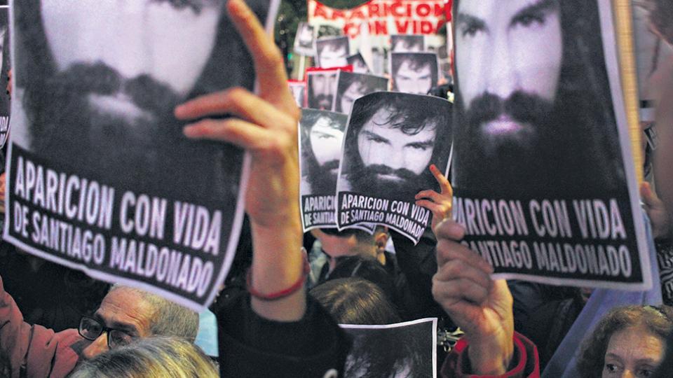 """""""La movilización fue fundamental para que no se naturalice la desaparición"""", dijo Carlos Pisoni."""