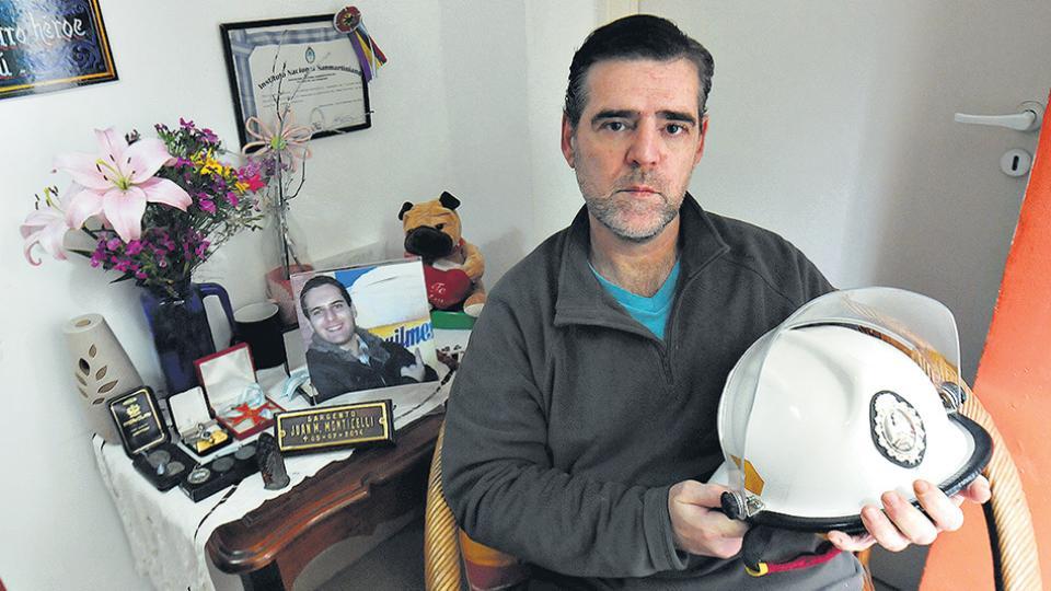 Rolando Monticelli es padre de Juan Matías, que tenía 26 años cuando murió en Iron Mountain.