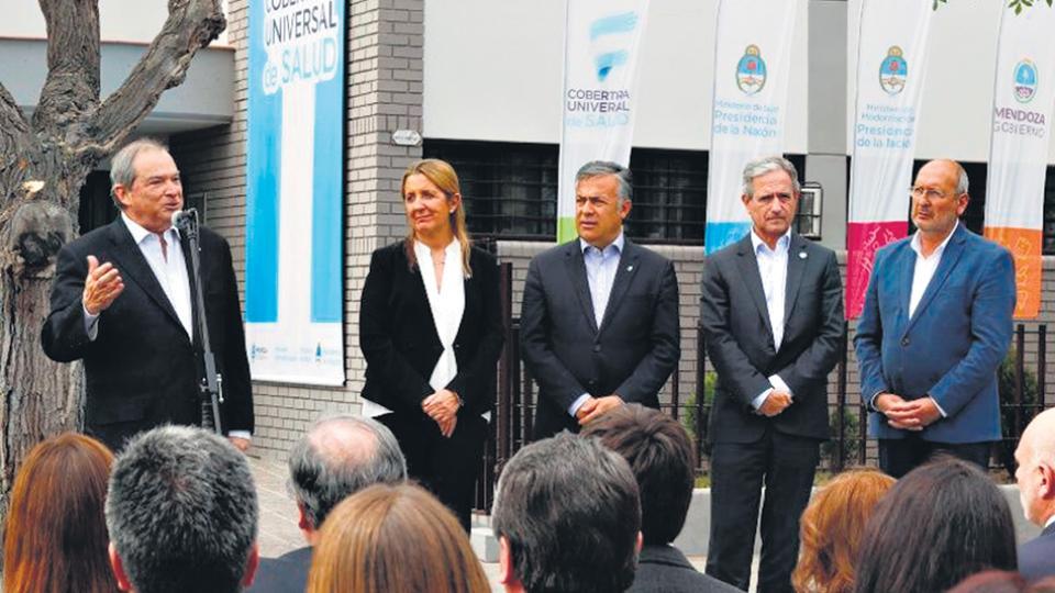 Jorge Lemus, Andrés Ibarra y Alfredo Cornejo en el lanzamiento del CUS.