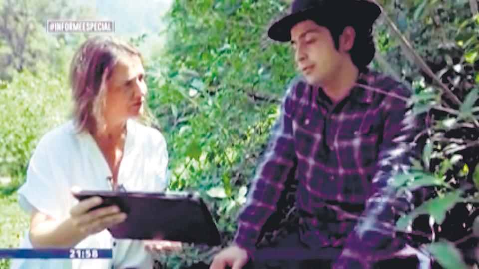 Nicasio Luna habló ante la televisión chilena.