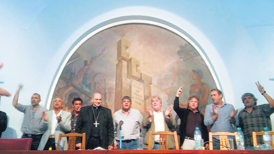 Walter Correa participó ayer del encuentro en la CGT con Pablo Moyano y el obispo Sánchez Sorondo.