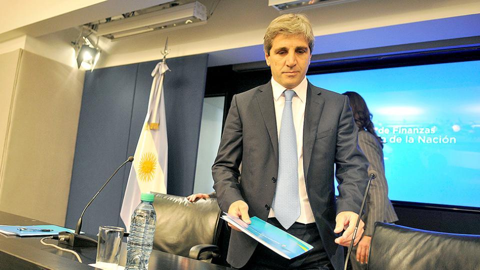 El ministro de Finanzas, Luis Caputo, participa de la comitiva presidencial en Nueva York.