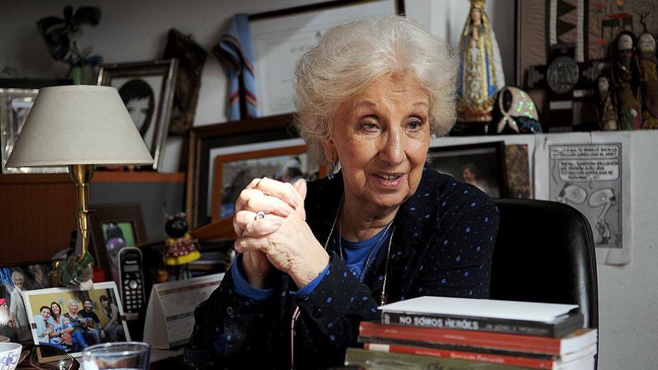 La presidenta de Abuelas de Plaza de Mayo, Estela Carlotto.
