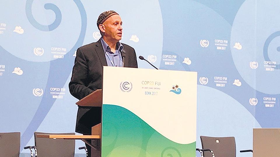 Sergio Bergman, en la Conferencia Internacional de Cambio Climático, en Bonn, Alemania.
