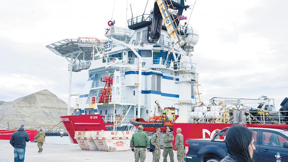 El Skandi Patagonia es un buque noruego que contrató la Marina de EE.UU. para buscar al San Juan.