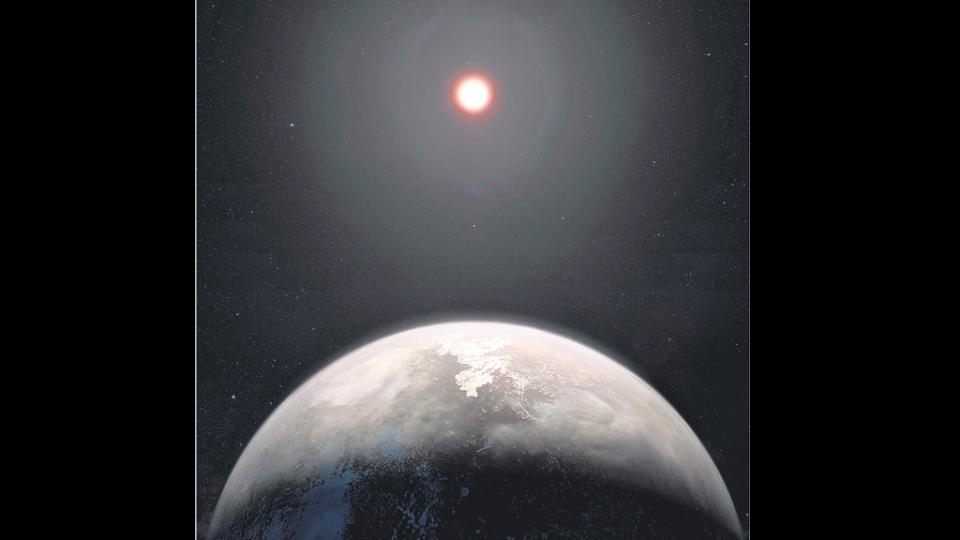 Así se vería la estrella Ross 128 desde la superficie del planeta recién descubierto.