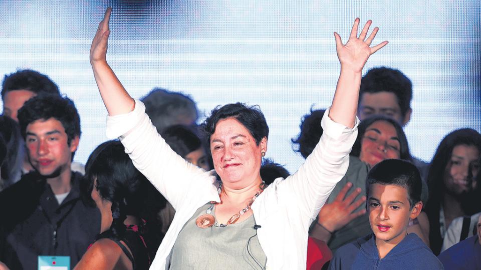 El Frente Amplio liderado por Beatriz Sánchez obtuvo un 20 por ciento pisándole los talones a Guillier.