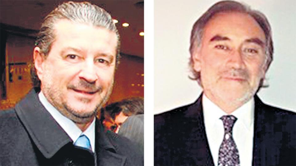Los jueces de la Cámara Federal Jorge Ballestero y Leopoldo Bruglia.